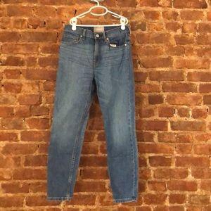 Everlane high-waisted skinny jeans, ankle length